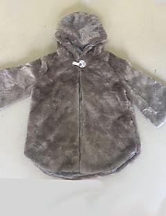 Χαμηλού Κόστους -Γυναικεία Γούνινο παλτό Εξόδου Μονόχρωμο, Blană Curată