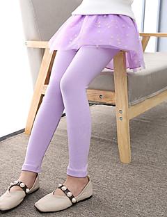 billige Bukser og leggings til piger-Pige Bukser Ternet, Polyester Alle årstider Aktiv Lyserød Navyblå Lilla