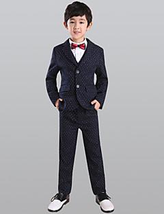 Azul Marinho Escuro 100% algodão Terno de Pajem - 5 Inclui Blazer Calças Colete Gravata Borboleta Camisa