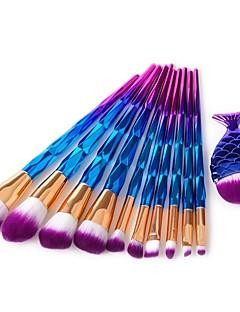 baratos -11pçs Pincéis de maquiagem Profissional Conjuntos de pincel Pêlo de Cavalo / Pêlo Sintético / Escova de Fibra Artificial