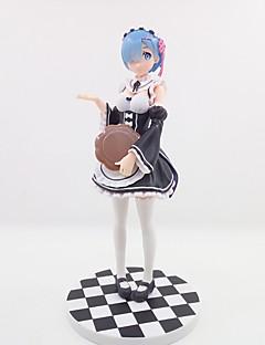 billige Anime cosplay-anime action figurer inspirert av re: null start livet i en annen verden rem pvc 22 cm modell leker dukke leketøy