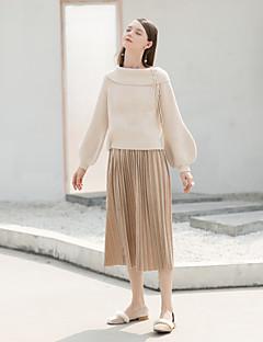 Χαμηλού Κόστους MASKED QUEEN-Γυναικεία Γραμμή Α Βίντατζ Φούστες - Μονόχρωμο, Πλισέ