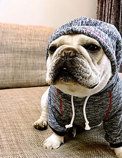 저렴한 -강아지 후드 강아지 의류 캐쥬얼/데일리 브리티쉬 커피 블루 코스츔 애완 동물
