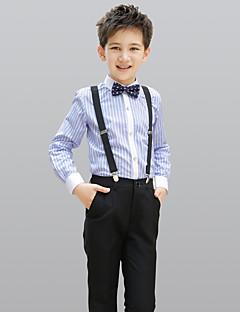 tanie Garnitury dla małych dróżbów-Black 100% Bawełna Garnitur dla małego drużby - 4 Zawiera Koszula Spodnie Szelki Muszka