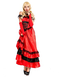 cheap -Sweet Lolita Dress Vintage Medieval Women's Dress Cosplay Red Camisole Sleeveless Ankle Length Midi