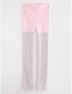 tanie Odzież dla dziewczynek-Spodnie Bawełna Dla dziewczynek Jendolity kolor Groszki Prążki Wiosna, jesień, zima, lato Blushing Pink Light Green