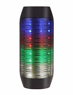 billige Bluetooth høytalere-Flashing Speaker Utendørs Bærbar LED Lys Innbygd Mikrofonen Support Minnekort Super Bass Bluetooth 2.1 3,5 mm AUX Trådløse