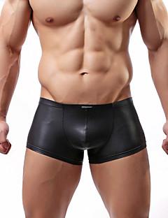 お買い得  メンズアンダーウェア&水着-男性用 スーパーセクシー ボクサーブリーフ - ソリッド 1個