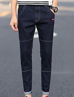 お買い得  メンズパンツ&ショーツ-男性用 シンプル ジーンズ パンツ ソリッド
