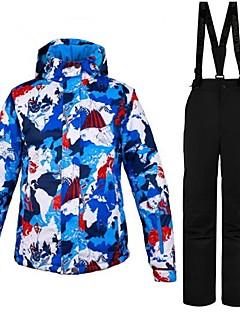 billiga Skid- och snowboardkläder-Dam Skidjacka och -byxor Varm, Ventilerande, Vindtät Skidåkning / Multisport / Vintersport Polyester Klädesset Skidkläder