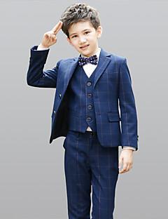 abordables Trajes de Pajecito-Azul Marino Oscuro 100% Algodón Vestido de Padrino - 5 Incluye Chaqueta Chalecos Camisas Pantalones Pajarita