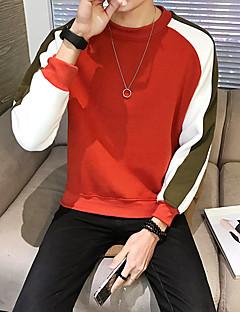 billige Hættetrøjer og sweatshirts til herrer-Herre Langærmet Rund hals Sweatshirt Trykt mønster
