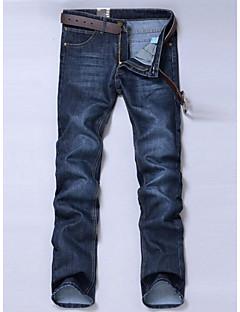 お買い得  メンズパンツ&ショーツ-男性用 シンプル ミッドライズ 伸縮性なし ジーンズ パンツ, コットン アクリル ソリッド オールシーズン