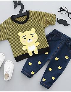 billige Tøjsæt til drenge-Børne Tøjsæt Dyretryk, Polyester Forår Grøn Lyserød Gul