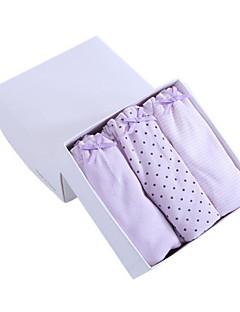 billige Undertøj og sokker til piger-Pige Undertøj Prikker, Bomuld Alle årstider Mikroelastisk Lyserød Lilla Gul