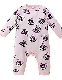 tanie Odzież dla dziewczynek-Bluzka Bawełna Dla dziewczynek Codzienny Jendolity kolor Wzór zwierzęcy Wiosna Na każdy sezon Długi rękaw Urocza Aktywny Blushing Pink