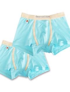 billige Undertøj og sokker til drenge-Drenge Undertøj Ensfarvet, Bomuld Alle årstider Simple Mikroelastisk Orange Grå Lyseblå