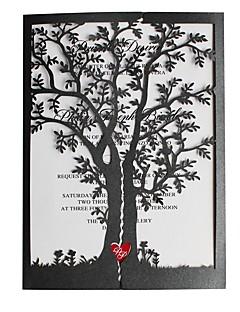 billige Bryllupsbutikken-Sjal & Lomme Bryllupsinvitasjoner 50stk - Invitasjonskort Eksempel på indbydelse Morsdagskort Kort til navnefest Kort til bryllupsfest