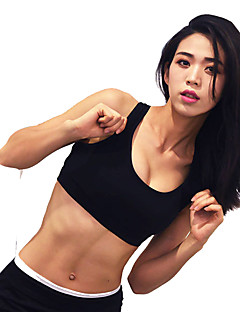 billiga Träning-, jogging- och yogakläder-Öppen Rygg Sportbehåar Vadderad Lätt stöd för Yoga - Svart / Röd Snabb tork, Mateial som andas, Supertunn Dam Chinlon