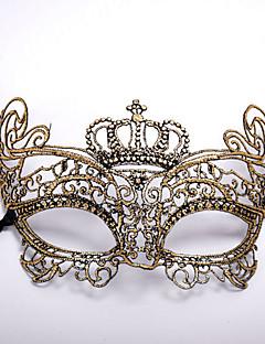 cheap Halloween Masks-Carnival Masquerade Mask Venetian Mask Silver Golden Metal Cosplay Accessories Masquerade