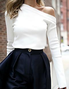 abordables Hauts pour Femme-Tee-shirt Femme,Couleur Pleine Couleur unie Décontracté