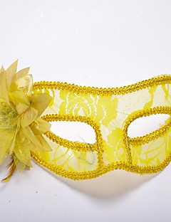 billige Halloweenkostymer-Klassisk Masquerade Mask Venetiansk maske Svart Gul Rød Blå Hvit Plastikker Cosplay-tilbehør Maskerade