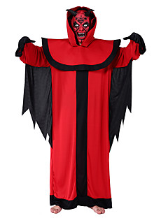billige Halloweenkostymer-Djevel Cosplay Kostumer Herre Halloween Festival / høytid Halloween-kostymer Rød Halloween Halloween