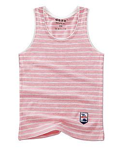 tanie Odzież dla chłopców-Tanktop / koszulka na ramiączkach Bawełna Dla chłopców Prążki Lato Bez rękawów Prosty Orange Czerwony Blushing Pink Navy Blue Fuchsia