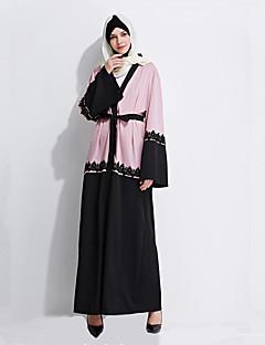 baratos Costumes étnicas e Cultural-Fantasias Vestido árabe Mulheres Festival / Celebração Trajes da Noite das Bruxas Roupa Rosa claro Geométrico
