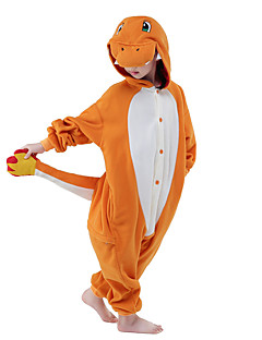 billige Kigurumi-Kigurumi-pysjamas Sjiraff Onesie-pysjamas Kostume Flanell Fleece Oransje Grå Brun Grønn Blå Cosplay Til Barne Pysjamas med dyremotiv