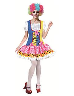 billige Voksenkostymer-Burlesk/Klovn Sirkus Cosplay Kostumer Party-kostyme Dame Karneval Festival / høytid Halloween-kostymer Regnbue Fargeblokk Artig &