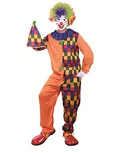 billige Halloweenkostymer-Burlesk / Klovn Sirkus Cosplay Kostumer Party-kostyme Herre Dame Karneval Festival / høytid Halloween-kostymer Oransje Fargeblokk Fest /