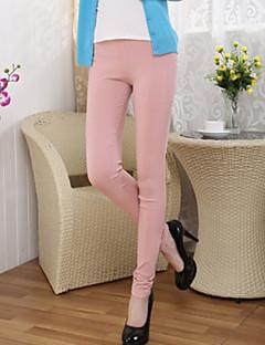 billige Damemode og tøj-Dame Basale Legging - Ensfarvet Høj Talje
