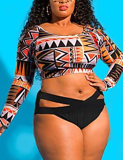 billige Bikinier og damemote 2017-Dame Med stropper Bikini Geometrisk mønster