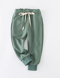 billige Bukser og leggings til piger-Ensfarvet Pigens Polyester Efterår Kjole Normal Blå Grøn Rød Grå Kakifarvet