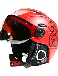preiswerte Ski & Snowboards-MOON Skihelm Unisex Erwachsene Skifahren Verstellbar One Piece Helm mit Googles City Extraleicht(UL) Sport Jugend PC EPS ASTM