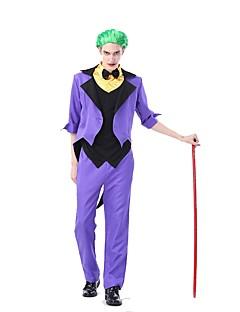levne -Joker Cosplay Kostýmy Kostým na Večírek Pánské Halloween Karneval Festival / Svátek Halloweenské kostýmy Fialová Barevné bloky Starožitný