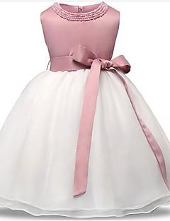 お買い得  赤ちゃんウェア-赤ちゃん 女の子の パーティー パッチワーク ポリエステル ドレス オールシーズン ノースリーブ ドレスウェア ピンク