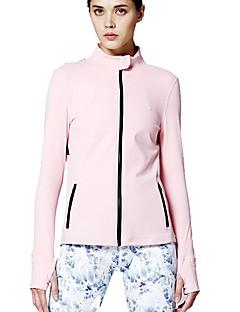 billiga Träning-, jogging- och yogakläder-Dam Öppen Rygg T-shirt för jogging - Rosa sporter Collegetröja / Överdelar Långärmad Sportkläder Mateial som andas Oelastisk