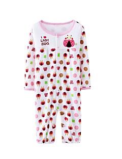 billige Babytøj-Baby Pige En del Afslappet/Hverdag Blomstret, Bomuld Forår Langærmet Grøn Lyserød Gul