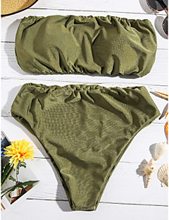 billige Bikinier og damemote 2017-Dame Bikini - Vintage Stil Ensfarget