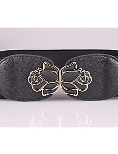 cheap Fashion Belts-Women's Street chic Leather Alloy Chain - Solid Colored
