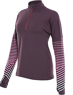 billiga Träning-, jogging- och yogakläder-Dam T-shirt för jogging - Mörkblå, Rosenröd, Violet t sporter T-shirt Långärmad Sportkläder Snabb tork