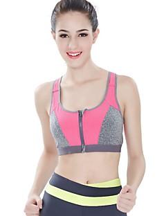 billiga Träning-, jogging- och yogakläder-Dragkedja fram Sportbehåar Vadderad Medium stöd för Yoga / Löpning - Orange / Fuchsia / Blå Mjukhet, Anti-Shock Dam Nylon / Elastisk
