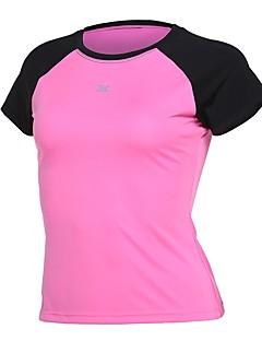 billiga Träning-, jogging- och yogakläder-Dam Lappverk T-shirt för jogging - Blå, Rosa, Grå sporter T-shirt Yoga, Fitness, Gym Kortärmad Sportkläder Snabb tork Microelastisk