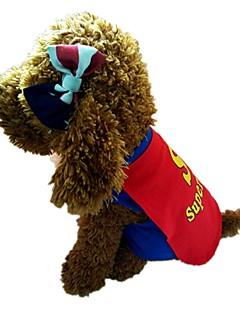 billiga Hundkläder-Hund Väst Hundkläder Bokstav & Nummer Blå Vadderat tyg Kostym För husdjur Herr Dam Stilig Sjal inkluderad