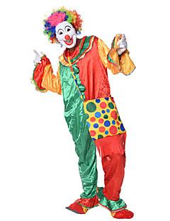 billige Voksenkostymer-Burlesk / Klovn Sirkus Cosplay Kostumer Party-kostyme Herre Dame Karneval Festival / høytid Halloween-kostymer Regnbue Fargeblokk Fest /
