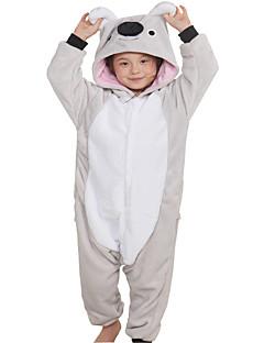 billige Kigurumi-Kigurumi-pysjamas Anime Koala Onesie-pysjamas Kostume Flanell Fleece Grå Cosplay Til Barn Voksne Pysjamas med dyremotiv Tegnefilm