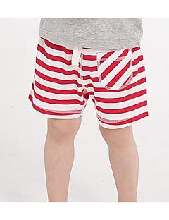 billige Drengebukser-Børne Shorts Stribet Sommer Blå Grøn Rød Gul