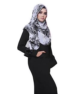 tanie Etniczne & Cultural Kostiumy-Moda Winieta Hidżab Abaya White Black Niebieski Szyfon Akcesoria do cosplay